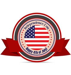 American Flag for Independence Day label vector