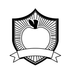 apple fresh healthy food emblem vector image