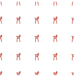 Baby chair icon pattern seamless white background vector