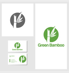 bamboo icon design template vector image