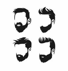 Beard logo design vector