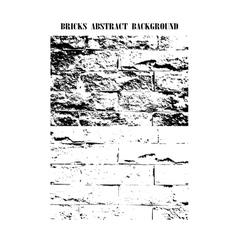 bricks texture background vector image