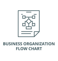 Business organizationflow chart line icon vector