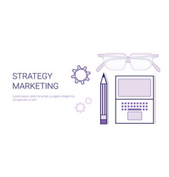 business strategy marketing concept corporate vector image
