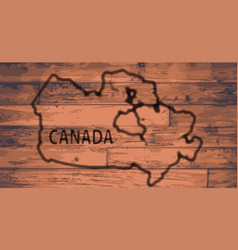 canada map brand vector image