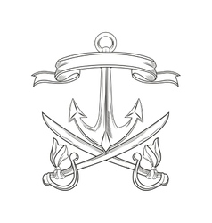 Cartoon pirate tattoo design vector