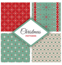 christmas new year geometric holiday set vector image