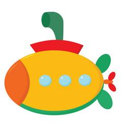 Clipart a multi-colored submarine or color vector
