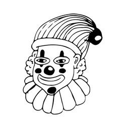 clown hand draw doodle design vector image
