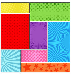 comic book page colorful composition vector image
