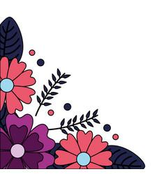Corner decoration flowers vector