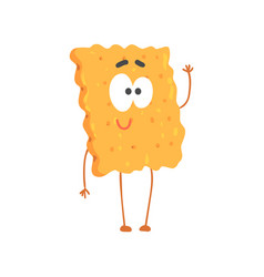 cute biscuit character cartoon funny dessert vector image