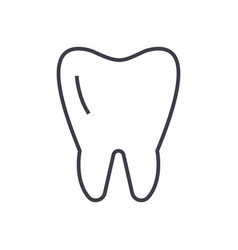 cute tooth line icon sign on vector image