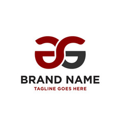 Design a business logo with letter ag vector