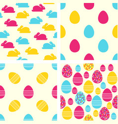 easter seamless patterns set of backgrounds vector image