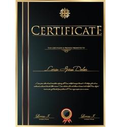 Elegant Certificate template vector image