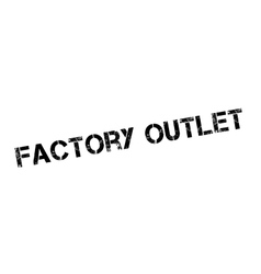 Factory Outlet rubber stamp vector