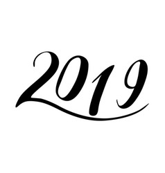 figures 2019 calligraphy vector image