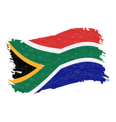 flag of south africa grunge abstract brush stroke vector image
