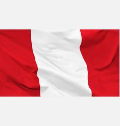flag republic peru vector image