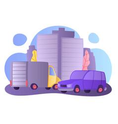 flat cartoon style urban street vector image
