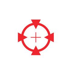 focus target graphic design template vector image