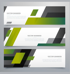 Geometric banners set in business style vector