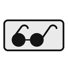 glasses for the blind icon flat style vector image