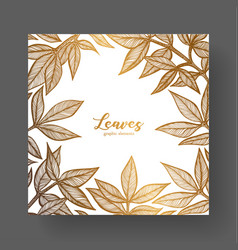 Gold design template for wedding invitations vector