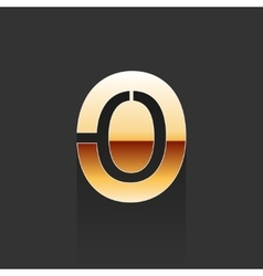 Gold Letter O Shape Logo Element vector image