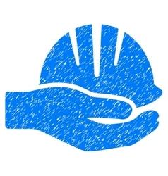 Hand With Helmet Grainy Texture Icon vector