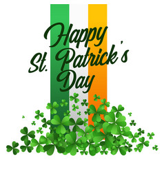 Happy saint patricks day celebration background vector