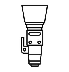 High zoom lens icon outline style vector