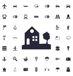 House and tree icon vector
