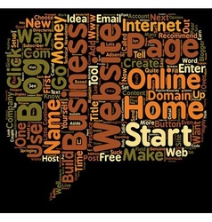 How To Start An Online Home Business With Little vector image