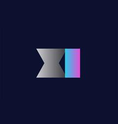 initial alphabet letter xi x i logo company icon vector image