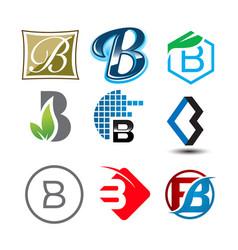 Initial letter b logo pack vector