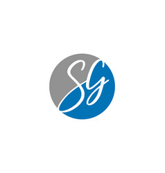 initial letter sg logo template design vector image