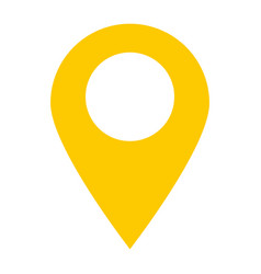 Location pin icon on white background location vector