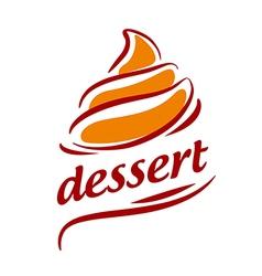 Logo abstract orange cream vector