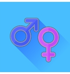 Male Female Icons vector