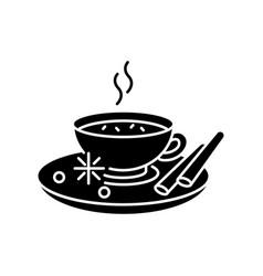 Masala chai black glyph icon vector