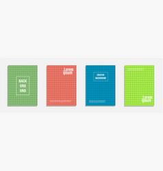 minimal cover design set of geometric pattern vector image