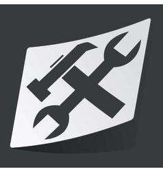 Monochrome settings sticker vector image