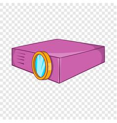 Multimedia projector icon cartoon style vector