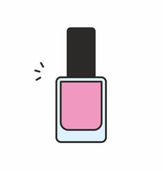 Nail polish icon vector