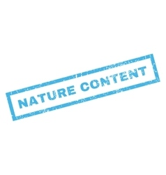 Nature Content Rubber Stamp vector image