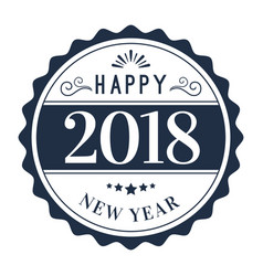 New year circle 2018 image vector