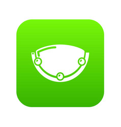 Oval lamp icon green vector