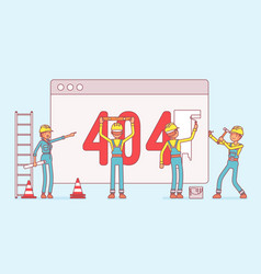 Page with 404 code under construction vector